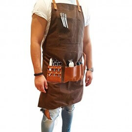 Barber's Apron Chocolate Brown