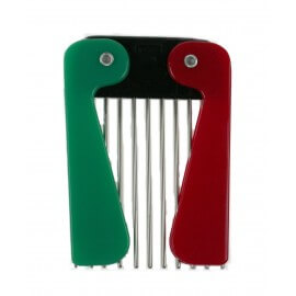 Barber Metal Pick - Pettine Afro