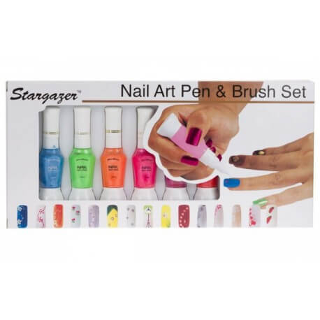 Set Nail Art Pen & Brush